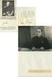 Комплект из трех автографов маршала Жукова: на двух фотографиях и на бумаге.